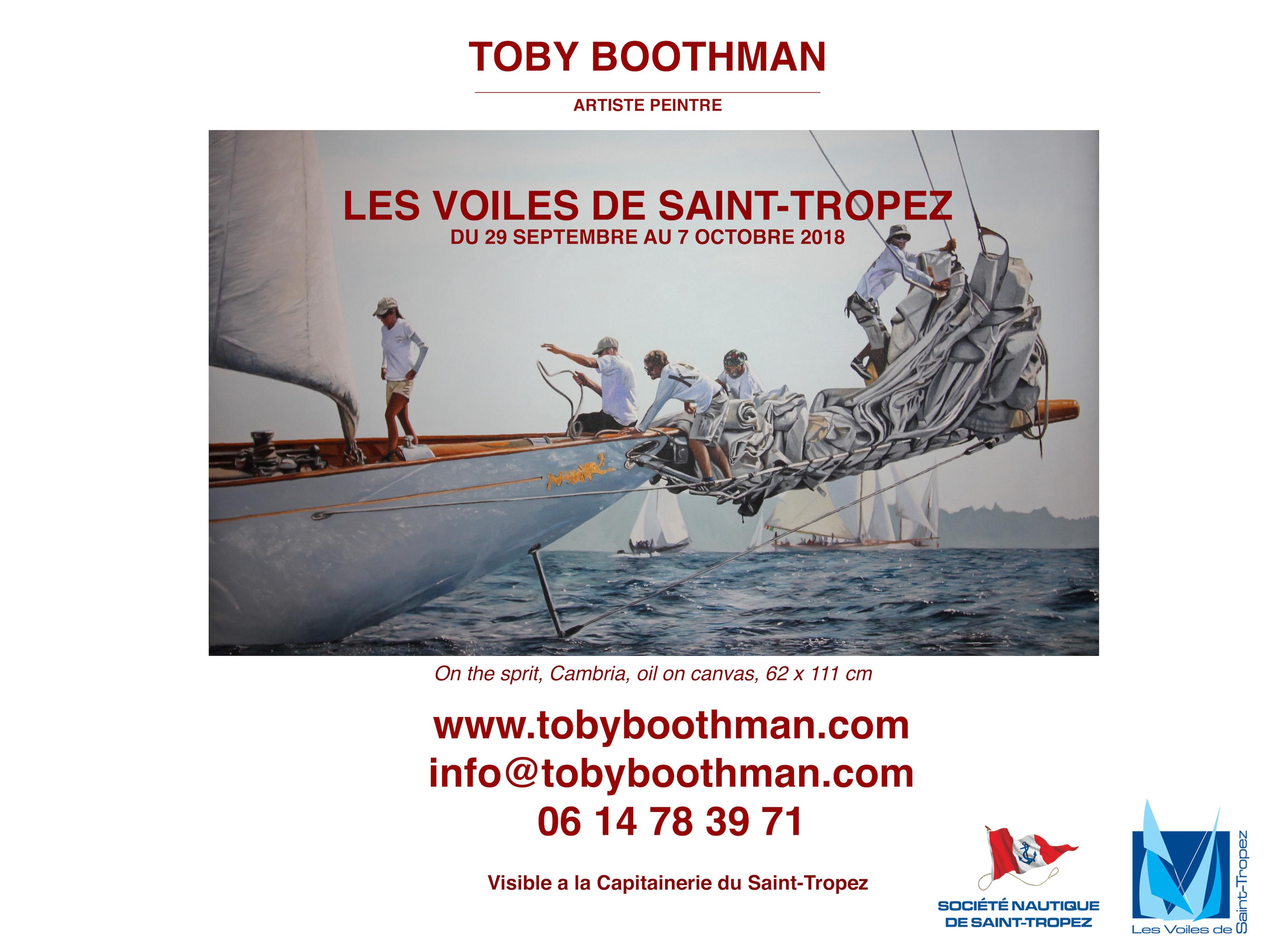 Artiste Peintre St Tropez capitainerie de saint tropez - toby boothman